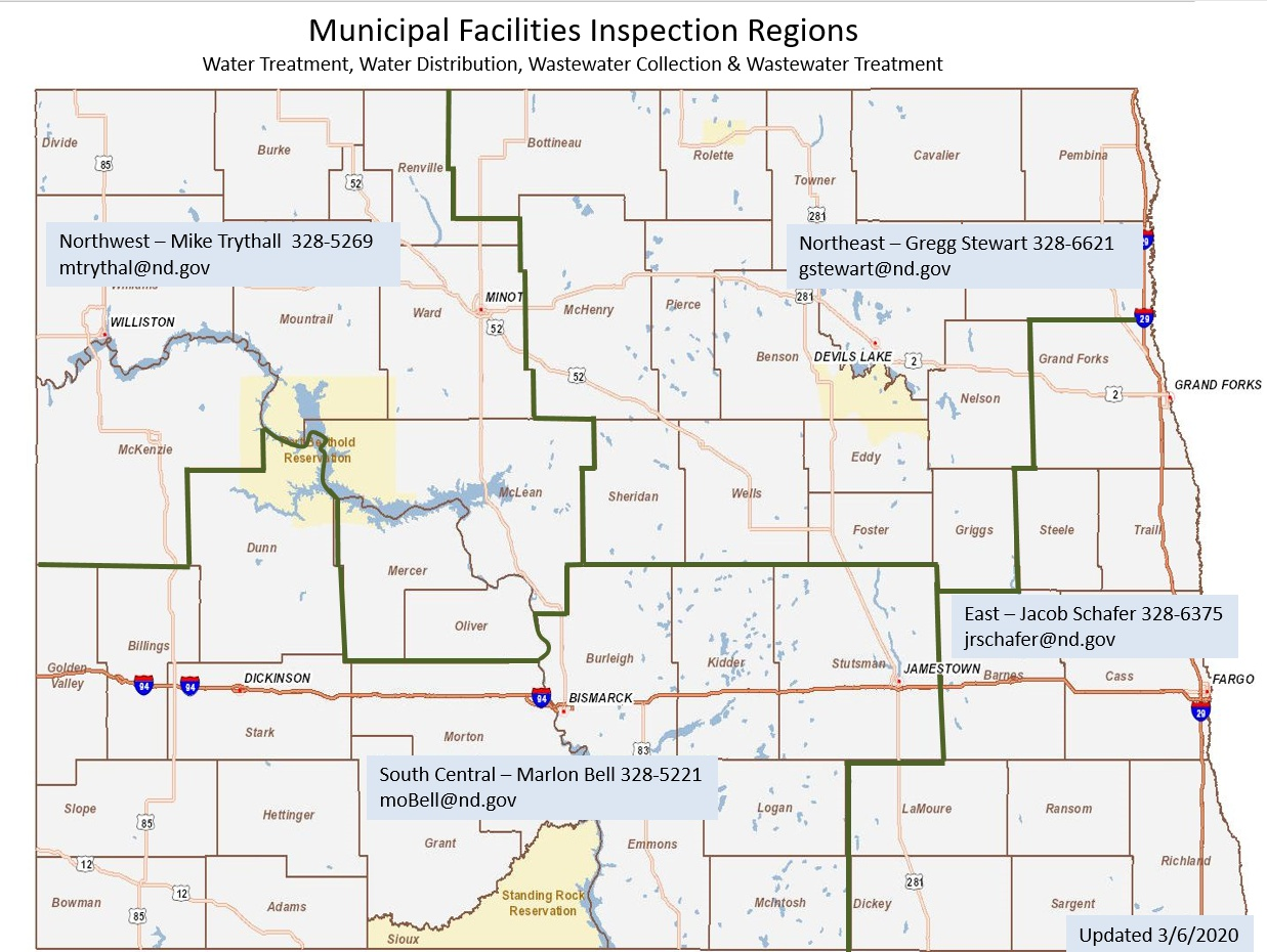 Map of Inspection Regions